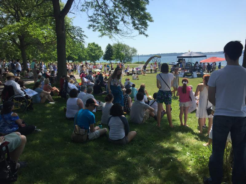 The Families Belong Together rally in Geneva, NY