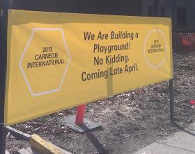 The Carnegie Museum of Art in Pittsburgh breaks ground for a new piece of art that is also a playground.