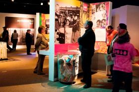 The Women's Rights Movement is a feature of the 1968: The Year that Rocked America exhibit. Freedom Trash Cans were used during the 1968 Miss America Pageant protest as a way to discard things such as bras, Playboy magazines, girdles and other items in symbolic gesture.