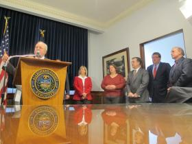 U.S. Rep. Mike Doyle applauds new energy initiative that seeks to prevent home foreclosure in Allegheny County.