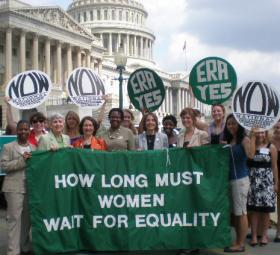 Members of N.O.W. at an Equal Rights Amendment rally