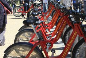In Washington D.C. you can pay as you go to bike anywhere. This could be on the way for Pittsburgh.