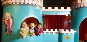 King Friday's Castle, from the original set of Mister Rogers' Neighborhood, on display at the Pittsburgh Children's Museum
