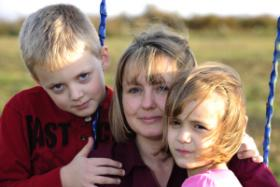 Stephanie Hallowich with her children. The Hallowich's sued after they say drilling activity made their children sick. The drilling companies say there is no medical evidence to link the illness to gas drilling.