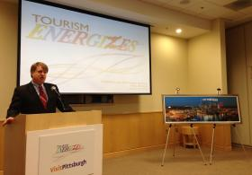 Allegheny County Executive Rich Fitzgerald was at the announcement Wednesday at the CONSOL Energy Center.