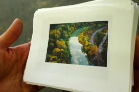 An example of Ed Panar's photography. Photographer Ed Panar will also have work in the Community Supported Art package. His images depict Pittsburgh streetscapes, rivers and houses tucked into hillsides.