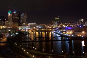 The night skyline of Columbus, Ohio