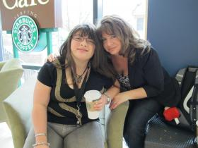 Dorene Ciletti and her autistic high school aged daughter Sabrina Filipek.