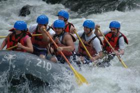 Local white water rafting with the guys, in the Laurel Highlands