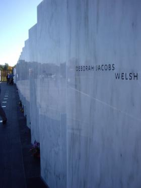 A wall of names at the Flight 93 Memorial in Somerset County