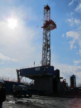 A drill rig in Susquehanna County.