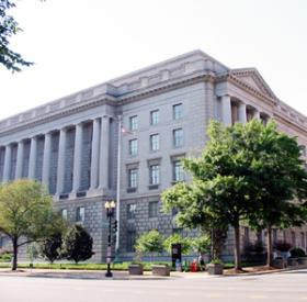The IRS building on Constitution Ave in Washington D.C.