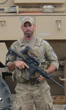 Technical Sergeant Mike Sears in Afghanistan in 2012