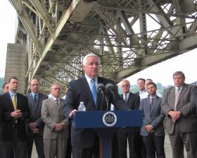 Governor Tom Corbett is calling on lawmakers to approve a transportation funding plan.