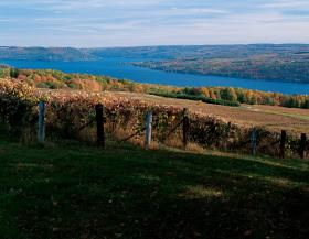 Keuka Lake is one of the many bodies of water that makes up the Finger Lakes region of New York State