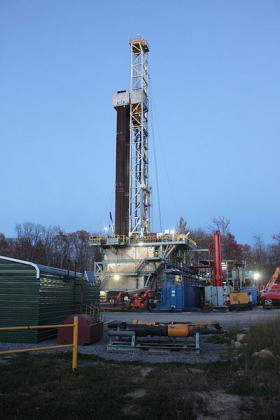 A Marcellus Shale well in Roulette, Pa.