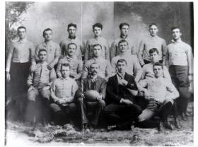 The 1892 Mansfield football team hosted the first night game.