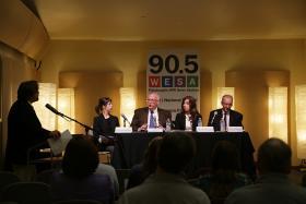 From left to right: Rachel Dingfelder, Dr. Christopher Hughes, Erin Gill-Ninehouser, Titus North