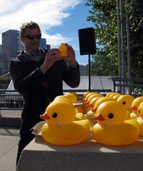 Rubber Duck Project artist Florentijn Hofman said the art installation will change Pittsburgh for a bit.