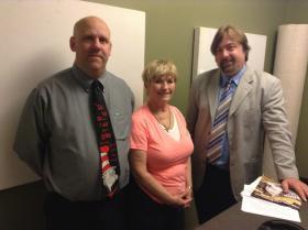 Oasis Tutor Coordinator John Spehar and Tutor Charlene Briggs