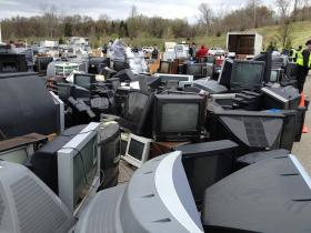 TVs are one of the most difficult devices to recycle because of the hazardous substances and non-reusable components.