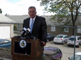Allegheny County District Attorney Stephen Zappala said the use of surveillance cameras, increased lighting and a security gate have contributed to lower crimes rates at Duquesne Place.