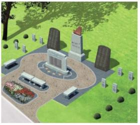An artist's rendering of the memorial to be unveiled Sunday at the Sewickley Cemetery.