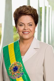 Dilma Rousseff, the first female president of Brazil.