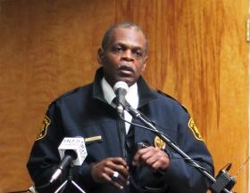 Former Pittsburgh Police Chief Nate Harper, seen here at a November 2012 new conference, pleaded guilty in federal court.