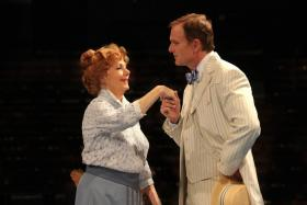 Patrick Cassidy with his mother Shirley Jones, in a performance of The Music Man. Cassidy is directing the Point Park University musical OKLAHOMA!