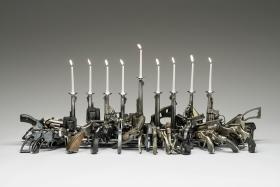 """Loaded Menorah"" by Boris Bally"