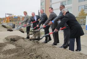 The Community Builders held a ceremonial groundbreaking for the new East Liberty Place South.