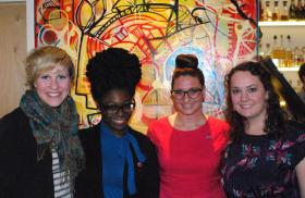 The four founders of the Pittsburgh chapter of Hollaback! are (Left to Right) Alison Winters, Akirah Robinson, Heather Dougherty, and Maggie Graham.
