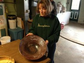 Margaret Dunn hopes that pottery made with acid mine drainage pollution can help the environment and the people of this region.