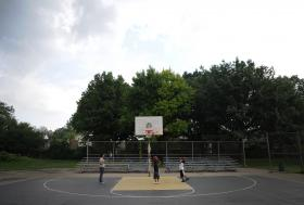 Following Anthony Rivers' death, his family rehabbed a court in East Liberty where Anthony used to play. They filled in cracks, repaired and replaced nets and backboards, and painted Anthony's signature number 3 in black and yellow in the center of the court.