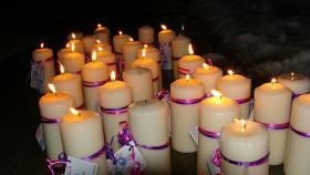 Coping with tragedy with a candlelight vigil