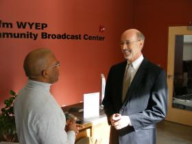 PA Democratic gubernatorial hopeful Tom Wolf speaks with Essential Pittsburgh producer Marcus Charleston