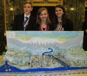 Eight graders Warren Sipe, Zoya Domashnev, and Katarina Mico from St. Bede School will represent the Pittsburgh region at the Future City National Finals in Washington, D.C. in February.