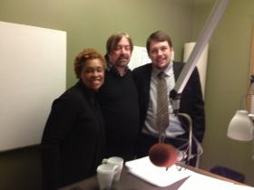 Melanie Harrington, CEO of Vibrant Pittsburgh, Paul Guggenheimer Essential Pittsburgh host and Gregg Roman, director of the Community Relations Council of the Jewish Federation of Greater Pittsburgh