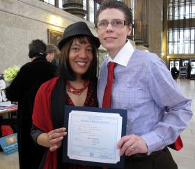 Diane (Left) and Heidi Anderson were legally married in New York in 2012. The couple applied for and was denied a marriage license in Pennsylvania.