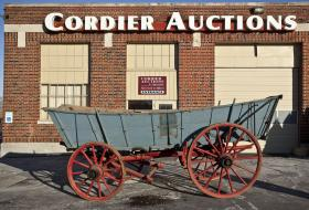 Pictured is the Conestoga Wagon that will be up for auction Saturday at 10 a.m. in Harrisburg.