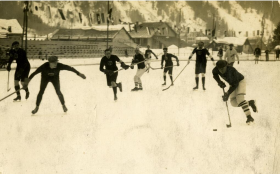 Olympic ice hockey in 1924.