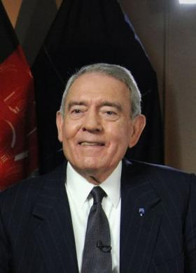 Broadcast Journalist, Dan Rather, worked for CBS for 44 years, 24 of those years as the anchor for CBS Evening News.