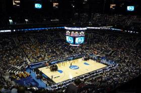 An image of the NCAA tournament from 2008. The tournament always attracts a lot of revenue and attention during the month of March and early April.