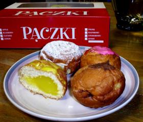 Paczkis, pronounced like push-key, is a popular pastry eaten on Fat Tuesday