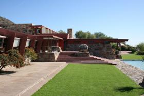 Frank Lloyd Wright's Taliesin West is one of the many attractions Elaine Labalme recommends visiting if you travel to Arizona for spring training