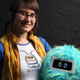 Aubrey Shick hopes to produce 5,000 Romibo robots within the next year.