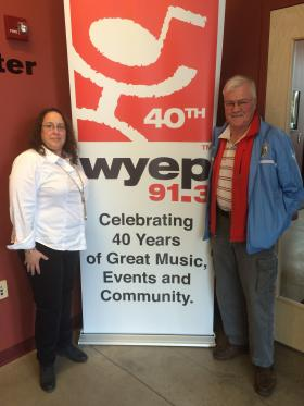 Current General Manager, Abby Goldstein, and one of the founding fathers of WYEP, Jeff Smith are celebrating the station's 40th anniversary this week.