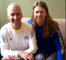 Joe Myers and Karen Harr both ran the Boston Marathon last year and plan to return again this year.