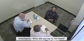 A screen capture showing Ariel Castro during his interrogation with the FBI.